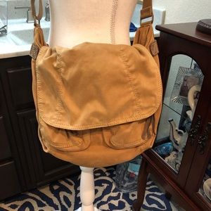 Fossil Cross Body Messenger Bag Tan
